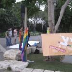 הומופוביה הורגת - פיצ' יוצא לרחוב, חיפה. צילום: אביב זומר, פיצ'